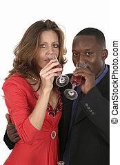 Romantic Couple Celebrating With Wine 13