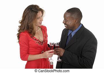 Romantic Couple Celebrating With Wine 8