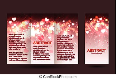Romantic design templates collection for banners, flyers, placards and posters. Bokeh light design.