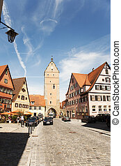 romantic Dinkelsbühl, city of late middleages - romantic...