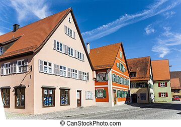 romantic Dinkelsbuehl, city of late middleages and timbered...
