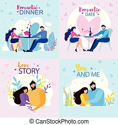 Romantic Dinner Date Love Story You and Me Banner