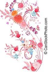 romantic elegant floral pattern for your design
