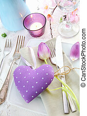 Romantic Elegant Place Setting