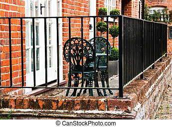 Romantic english backyard