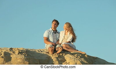Romantic evening - Loving couple having a romantic evening...