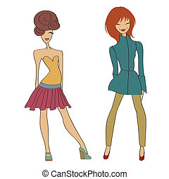 romantic fashion girls