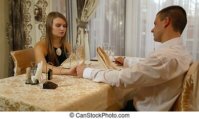 Romantic Fine Dining - couple having a romantic dinner date