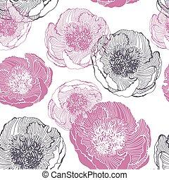 Romantic floral background, decorative seamless pattern