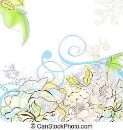 Romantic floral background