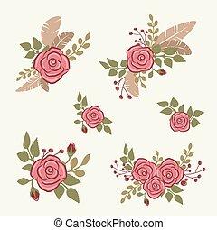 Romantic floral bouquets - Romantic floral compositions for...