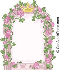 Romantic Floral Fairy Tale Frame