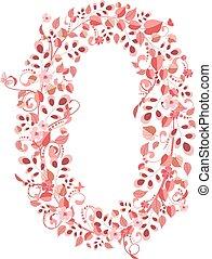 Romantic floral number 0