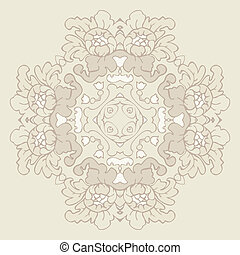 Romantic floral seamless design