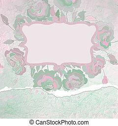 Romantic Flower Background. EPS 8