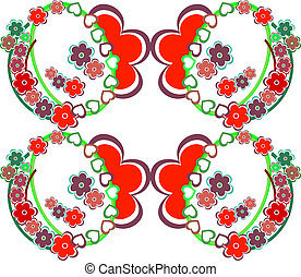 Romantic flower background seamless retro floral pattern