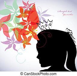 Romantic flower background. Vector