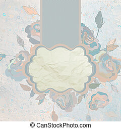 Romantic flower card template. EPS 8