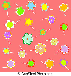 Romantic Flower pink Background. vector