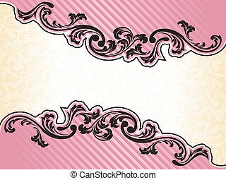 Romantic French retro frame in pink