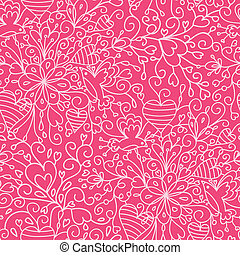 Romantic garden seamless pattern background