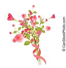 Romantic Gift Bouquet Vector