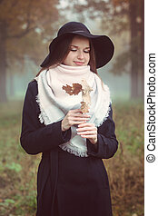 Romantic girl in a hat