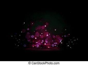 Romantic glittering purple backgroung with light bokeh effect