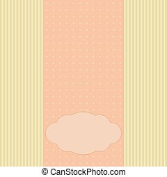 Romantic greeting card, template for invitation