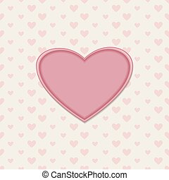 Romantic greeting card with heart
