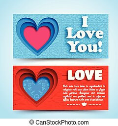 Romantic Greeting Horizontal Banners