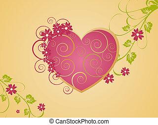 Romantic heart - Vector illustration of a beautifull...