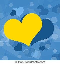 Romantic hearts background