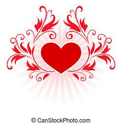 romantic hearts Valentine's Day design background