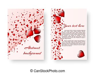Romantic invitation with red hearts - Background greeting...