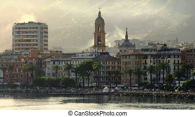 romantic italian riviera - Rapallo village in Tigullio Gulf...