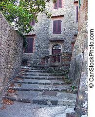 Romantic Italian small town in Tuscany