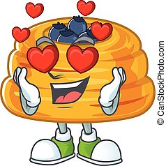 Romantic kataifi cartoon character with a falling in love face