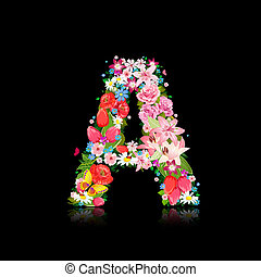 Romantic letter of beautiful flowers A