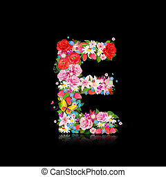 Romantic letter of beautiful flowers E