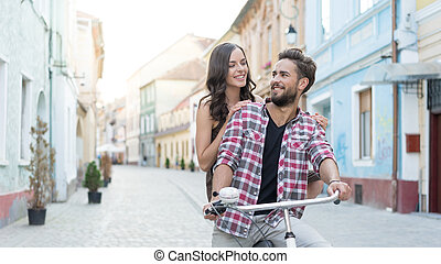 romantic looking and a bike