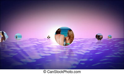 Romantic montage of couples at the