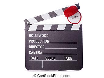 Romantic movie clapper board cutout