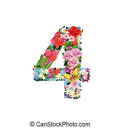 Romantic number of beautiful flowers 4