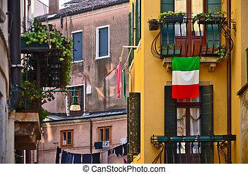Romantic old buildings in Venice