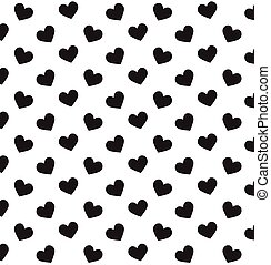 Romantic pattern with hearts. Background