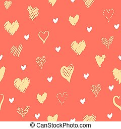 Romantic pattern with hearts