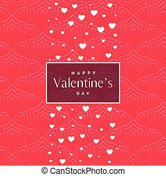 romantic pink valentine's day pattern background with white hearts