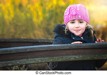 Romantic portrait of a cute little girl