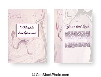 Romantic postcard with marble texture - A gentle template of...